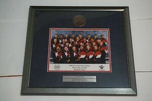 Baseball Team USA 1999 Pan American Games Winnipeg, Dave Wallace - Plaque