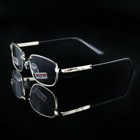 Reading Glasses +4.50 +5.00+5.50+6.00 Optical Lens Metal  Gold Frames Presbyopic