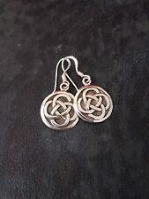 Celtic Interlocking Weave Dangle Earring STERLING SILVER Ladies Women Girls
