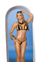One Size Fits Most Womens Cut-out Micro String Bikini