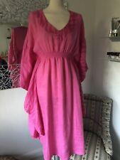 fbbbd04a6bbc0d Neues Angebot120 % LINO * lange Tunika * Kleid *100% LEINEN * rosa/pink *  38/40