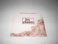 CD single Jean Jacques Goldman les choses 2 titres 2002 NEUF