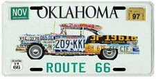 Route 66 Mother Road of America Old Car Oklahoma License Plate