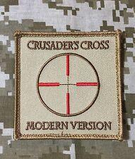 CRUSADERS CROSS MODERN VERSION USA ARMY DESERT PATCH VELCRO® BRAND FASTENER