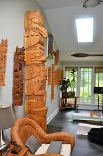 Ten Foot Western Red Cedar Hand Carved Totem Pole Dan Martin