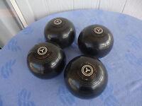 set of henselite lawn bowls size 5 championship