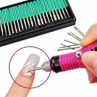 30 Nail Art Electric File Drill Bits Rerlacement Manicure Pedicure Kit Tool New