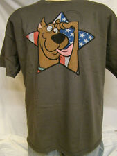 SCOOBY DOO American Theme Men's Brown Official T-shirt 2 X-Large