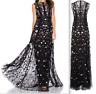Needle & Thread floral ombre sequin maxi dress gown lace size 2