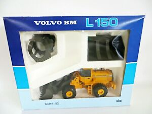 NZG 'VOLVO BM L150 WITH ATTACHMENTS' 1:50. MIB/BOXED. VOLVO DEALER PACKAGING