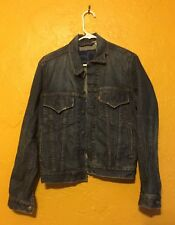LEVIS RED TAB DENIM JEAN JACKET WOMAN'S SMALL SLIM TRUCKER MODEL