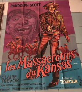WESTERN AFFICHICHISTE RUSSE ARNSTAM LES MASSACREURS DU KANSAS 1953 DE TOTH