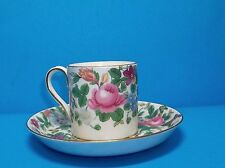 CROWN STAFFORDSHIRE DEMITASSE CUP AND SAUCER SET  BEAUTIFUL FLORAL!