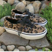 Vans Auténticas plataforma Fuzzy Leopardo nos Zapatos de Skate Hombre Talla 8.5/10 para Mujer