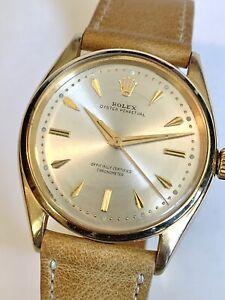 ROLEX Oyster Perpetual 18K GOLD Model 6564 Circa 1956 Watch Cal 1030 NO RESERVE!