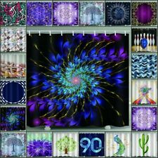 Psychedlic Scenery Mandala Shower Curtain With Hooks Waterproof Bath Room Decor