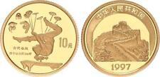 China 10 Yuan 1997 Akrobatin als Schlangenmädchen 1/10 Unze Gold  PP