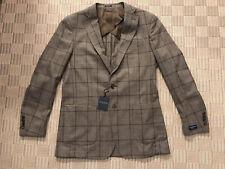 NWT Peter Millar Avon Plaid Soft Jacket 100% Merino Wool Brown/Espresso 46L $898