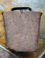 Antique Iron Cow Bell Early Primative Blacksmith original clanger great patina