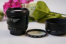 Nikon AF-85 mm 1.8 mit GegenLBLNDE, Hood