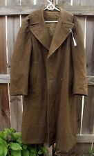 1942 WWII US Army Heavy 36L Wool Roll Collar Overcoat World War Two