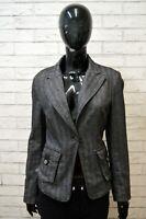 Giacca Donna LIU JO Taglia M S Maglia Coat Jacket Blazer Lana Grigio Wool Woman