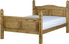 CORONA MEXICAN PINE SMALL DOUBLE BED FRAME | WOODEN PINE 4FT CORONA BED BASE SET