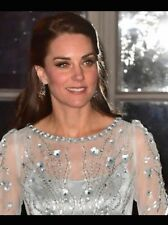 NEW Jenny Packham Ice Blue Sequin & Crystal Studded Gown Dress ASO USA 8