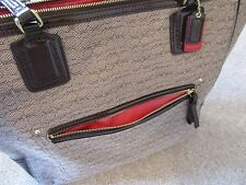 Authentic Coach Poppy Oxford Signature C Tote Shopper #25078 Handbag Khaki/Brown