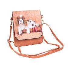 Cavalier Dog & Ragdoll Cat Slim Cross body Flap Bag