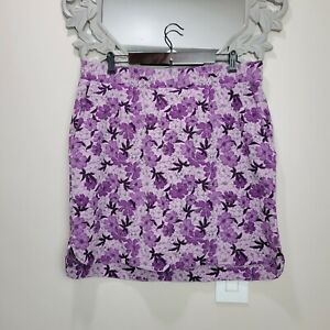 Duluth Trading Co. Breezeshooter Purple Floral Skort Sz 18 Short Skirt Orchid