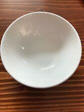 SIX BRAND NEW White STEELITE Embossed Cereal / Ice Cream Bowls Restaurant Ware