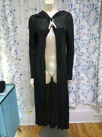 Bisou Bisou Size L Black Cape Cardigan Long Sleeve Hoodie