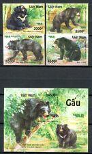 Vietnam 2012 Bären Bears Wildtiere Animals Ungezähnt Imperf Postfrisch MNH