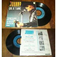 JOHNNY HALLYDAY - Que Je T'Aime French EP Psych Pop 1969