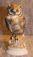 Napcoware Owl Figurine Sitting On Tree Stump #295