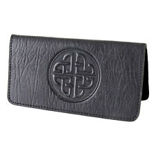 Celtic Love Knot Black Leather Checkbook Cover Oberon Design COMBINED SHIPPING