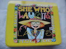 Mary Engelbreit Tin, She Who Laughs, Lasts