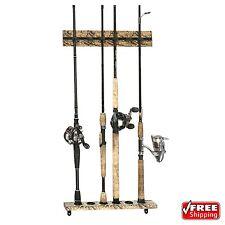 Fishing Rod Holder Organizer Storage Rack Lock Wall Mount Hanger Vertical Stick