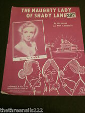 ORIGINAL SHEET MUSIC - THE NAUGHTY LADY OF SHADY LANE - YANA