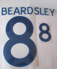 Beardlsey no 8 England Home Football Shirt Name Set Adult Sporting ID