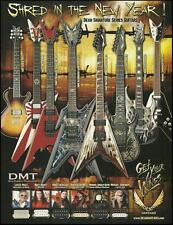 Dean Signature Series Guitars 8 x 11 ad Dimebag Darrell Dave Mustaine Matt Heafy