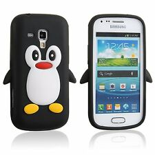 Black Silicone Penguin Phone Case / Cover for Samsung Galaxy S Duos S7562