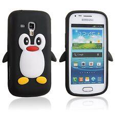 PINGUINO in silicone nero telefono custodia/COVER PER SAMSUNG GALAXY S DUOS s7562