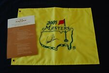 Arnold Palmer Signed 2005 Masters Golf Flag PGA US Open Tiger won! auto
