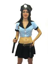 Sexy Women Police Cop Officer Fancy Dress Costume 7 Pcs