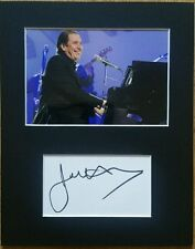 Jools Holland 'Squeeze', hand signed mounted autograph.