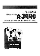 Bedienungsanleitung-Operating Instructions für Teac A-3440