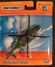 Matchbox SkyBusters  R0690  SIKORSKY S-92  helicopter  NOS   green RECON UNIT
