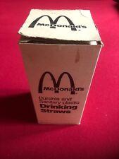 "1960's, McDonald's, ""Un-Used"" Box (250), Plastic Drinking Straws (Scarce)"